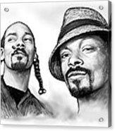 Snoop Dogg Group Art Drawing Sketch Poster 30x85cm Acrylic Print