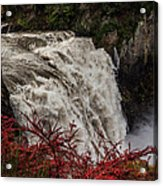 Snoqualmie Falls At Flood Stage Acrylic Print