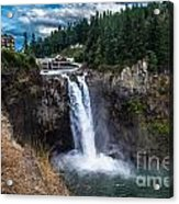 Snoqualmie Falls Acrylic Print by Chris Heitstuman
