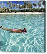 Snorkeling In Polynesia Acrylic Print