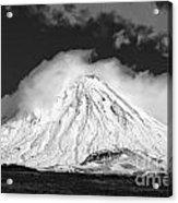 Snow And Clouds On Mt. Ngauruhoe 2 Acrylic Print