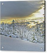 Snow And The Sierra Highway 88 Acrylic Print