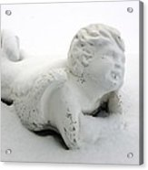 Snow Angel Figurine Acrylic Print
