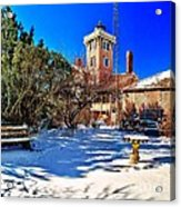 Snow At Hereford Inlet Acrylic Print