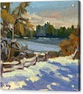 Snow At Martha Lake Acrylic Print