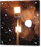 Snow At Night - 1779 Acrylic Print