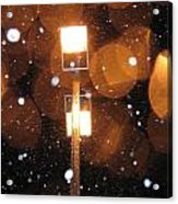 Snow At Night - 1781 Acrylic Print