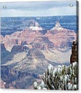 Snow At The Grand Canyon Acrylic Print