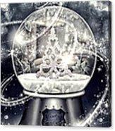 Snow Ball Acrylic Print by Mo T