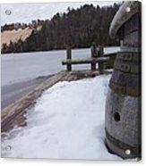 Snow Barrel Acrylic Print