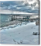 Snow Beach Acrylic Print