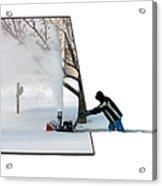 Snow Blower Acrylic Print