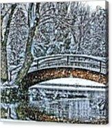 Snow Bridge Acrylic Print