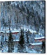 Snow Cabins Acrylic Print