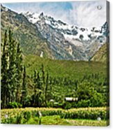 Snow-capped Andes Mountains With Snowline Above 17000 Feet-peru Acrylic Print