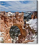 Snow Capped Arch At Bryce Acrylic Print