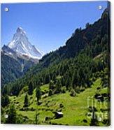 Snow-capped Matterhorn Acrylic Print