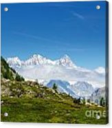 Snow-capped Mountain And Cloud Acrylic Print