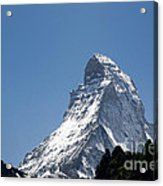 Snow-capped Mountain Acrylic Print by Mats Silvan