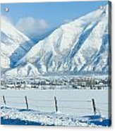 Snow Capped Mountains Acrylic Print