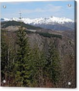 Snow Capped View Acrylic Print