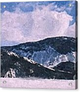 Snow Clouds - Winter - Ice Acrylic Print