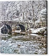 Snow Coming Down On The Wissahickon Creek Acrylic Print