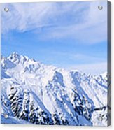 Snow Covered Alps, Schonjoch, Tirol Acrylic Print