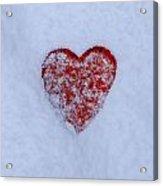 Snow-covered Heart Acrylic Print