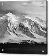 snow covered landscape of anvers island mountain range and neumayer channel Antarctica Acrylic Print