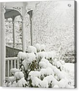 Snow Covered Porch Acrylic Print