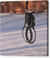 Snow Covered Rocking Horse Swing Acrylic Print