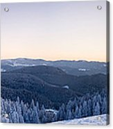 Snow Covered Trees On A Hill, Belchen Acrylic Print