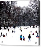 Snow Day - Fun Day Acrylic Print