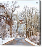 Snow Dusted Colorado Scenic Drive Acrylic Print