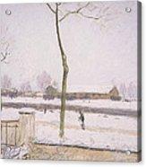 Snow Effect Effet De Neige Pastel On Paper C. 1880-1885 Acrylic Print