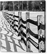 Snow Fence Acrylic Print