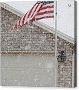 Snow Flag Acrylic Print