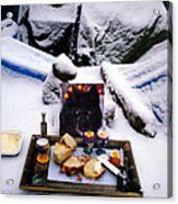 Snow Flake And Colette Winter Snow Lunch Acrylic Print