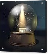 Snow Globe Nativity Scene Night Acrylic Print