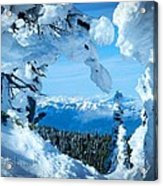 Snow Heart Acrylic Print