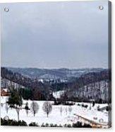 Snow Hills Acrylic Print