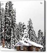Snow House- Gulmarg- Kashmir- India- Viator's Agonism Acrylic Print by Vijinder Singh