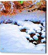 Snow In Color Acrylic Print