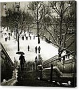 Snow In London Acrylic Print