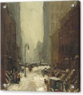 Snow In New York Acrylic Print