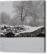 Snow In Plymouth Meeting Pa Acrylic Print