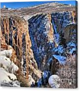 Snow In The Black Canyon Acrylic Print