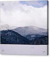 Snow In The Blue Ridge Mountains Acrylic Print
