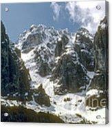 Snow In The Dolomites Acrylic Print